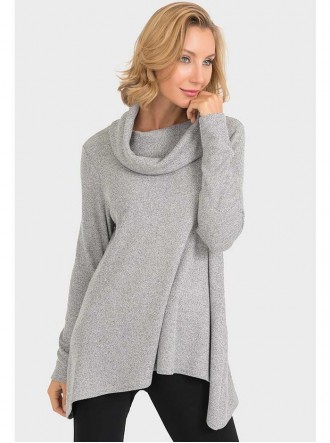 193617 - Light Grey & Black Top (Joseph Ribkoff)