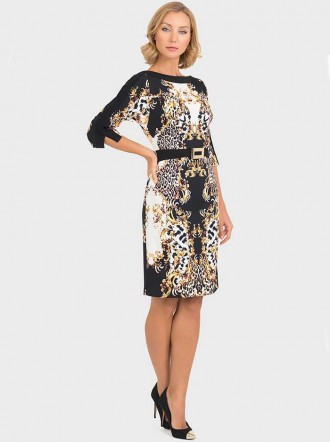 193746 - Black & Gold Dress (Joseph Ribkoff)