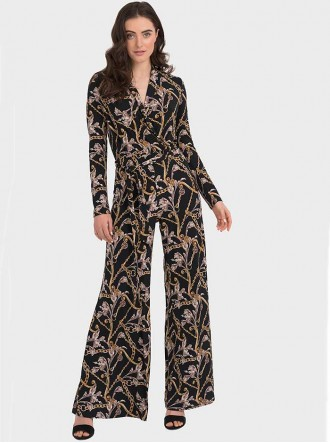 194650 - Black/Multi Jumpsuit (Joseph Ribkoff)