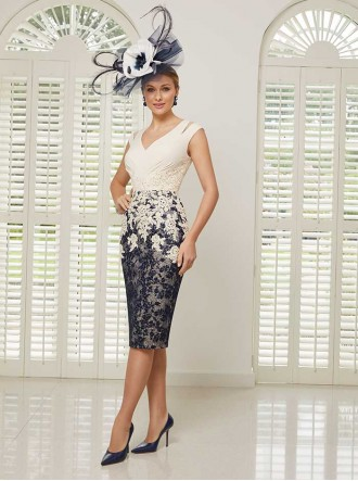 991501S - Champagne/Navy Dress (Veni Infantino)
