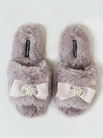 Anya Faux Fur Slippers - Mink