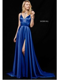 52119 - Dark Royal/Black (Sherri Hill)