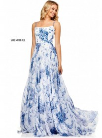 52621 - Ivory/Light Blue (Sherri Hill)