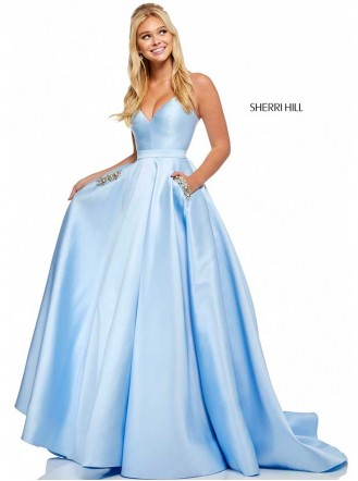 52725 - Light Blue/Black (Sherri Hill)