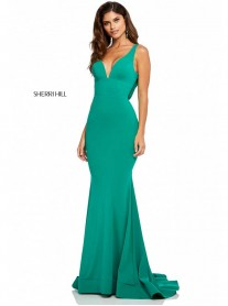 52790 - Emerald/Black (Sherri Hill)
