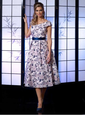 VO4987 - Navy/Baby Pink Dress (Veromia Occasions)