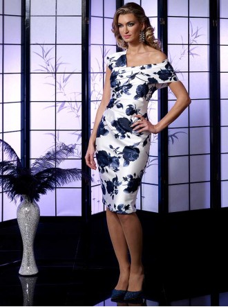 VO5006 - Navy/Ivory Dress (Veromia Occasions)