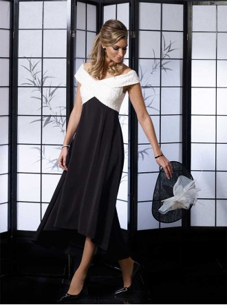 VO4985 - Ivory/Black Dress (Veromia Occasions)