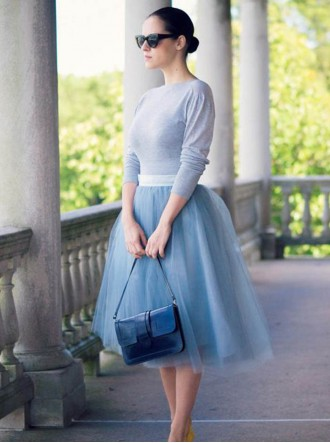 Mya Tulle Skirt - Ice