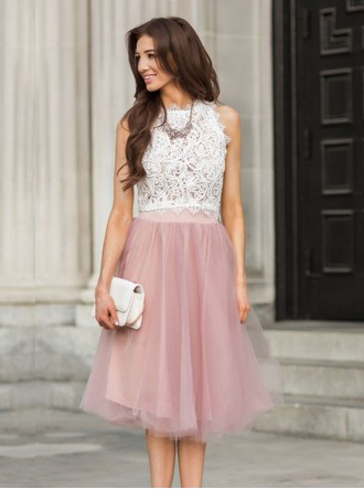 Mya Tulle Skirt - Blush