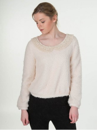 Lilly Pearl Jumper - Ivory