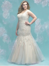 W402 - Antique/Ivory/Nude/Silver (Allure Bridals)
