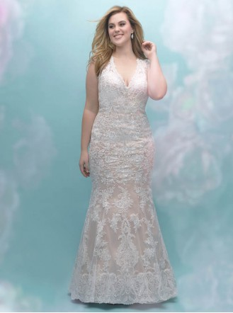 W404 - Antique/Ivory/Nude/Silver (Allure Bridals)