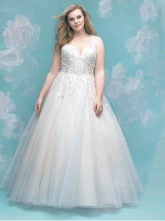 W401 - Ivory/Silver (Allure Bridals)