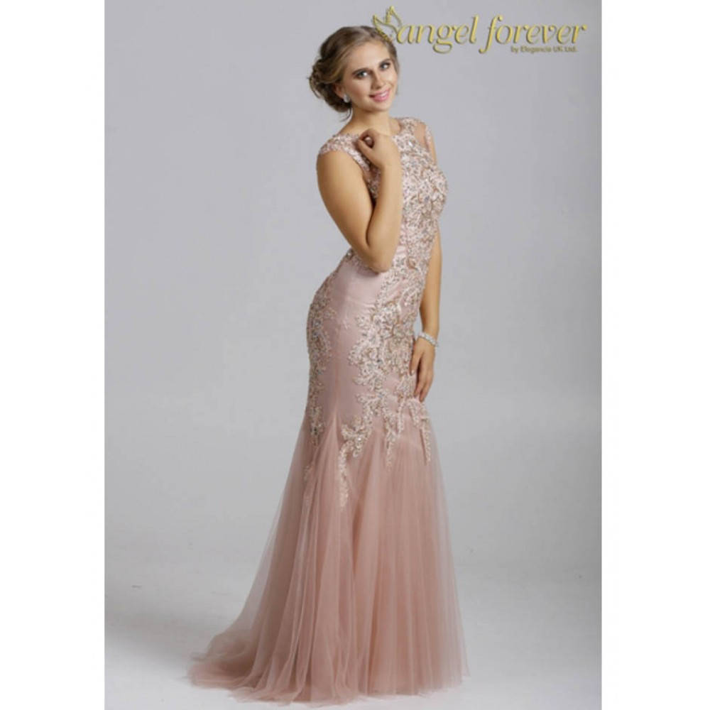 SP1556 Evening Prom Dress - Angel Forever Dresses by Molly Browns