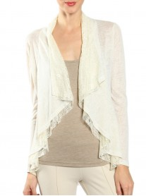 Cream Lace Cardigan - A'reve