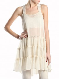 Cream Chiffon Dress - A'reve