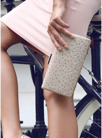 Goldie Diamante Clutch Bag
