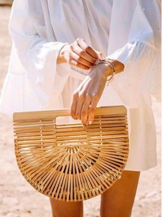 Bamboo Bag - Gold