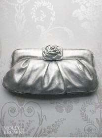 Shanti - Silver Clutch Bag (Lisa Kay)