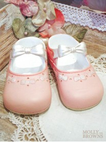 Ceramic Pink Baby Shoes