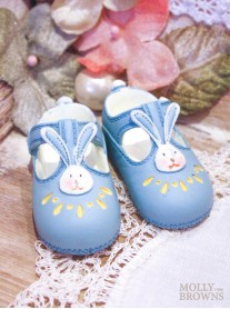 Mini Ceramic Blue Baby Shoes