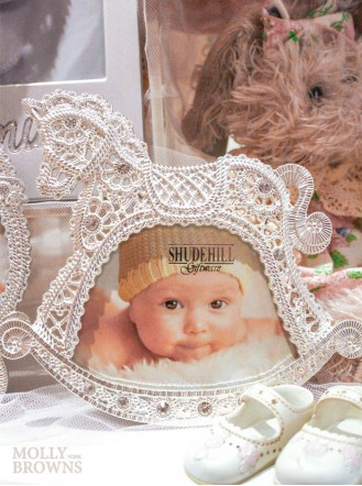 Silver Diamante Rocking Horse Photo Frame