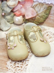 Mini Ceramic Cream Baby Shoes