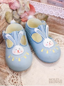 Ceramic Blue Baby Shoes