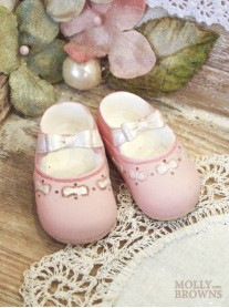Mini Ceramic Pink Baby Shoes