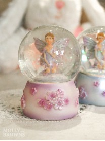 Mini Fairy Glittery Snow Globe (Pink)