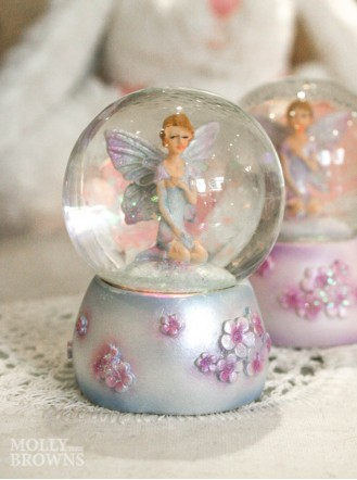 Mini Fairy Glittery Snow Globe (Violet)