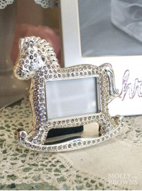 Silver Mini Rocking Horse Photo Frame