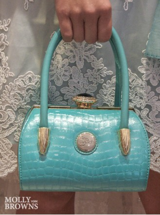 Diana Mint Patent Handbag - Peach Accessories