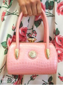 Diana Pink Patent Handbag - Peach Accessories