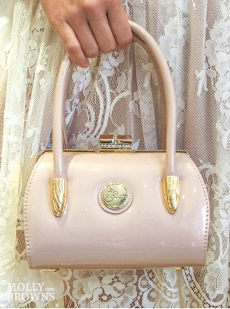 Georgia Nude Patent Handbag - Peach Accessories