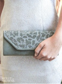 Haley - Grey Clutch Bag (Lunar)