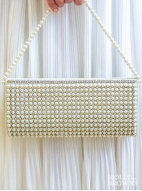 Large Pearl & Crystal Clutch Bag