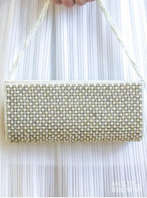Pearl & Crystal Clutch Bag