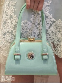 Seychelles Mint Patent Handbag - Peach Accessories