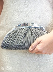 Sienna - Dark Grey Clutch Bag (Lunar)