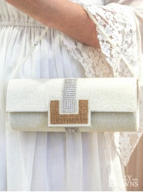 White Gold & Silver Clutch Bag