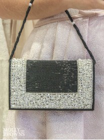 Black Crystal Beaded Clutch Bag