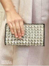 Black Crystal Clutch Bag