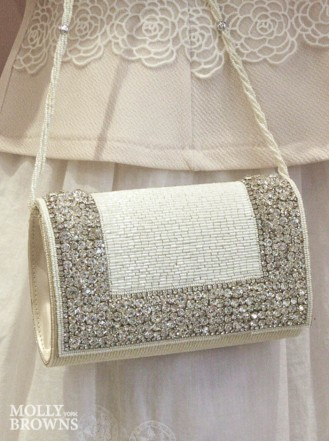 Crystal Beaded Clutch Bag