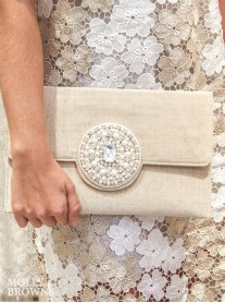 Pearl & Crystal Embellished Clutch Bag
