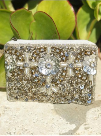 Antique Silver/ Gold Beaded Purse