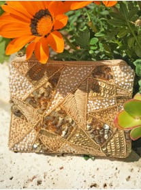Aztec Embellished Purse (Gold)