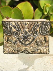 Beaded Purse (Gunmetal)