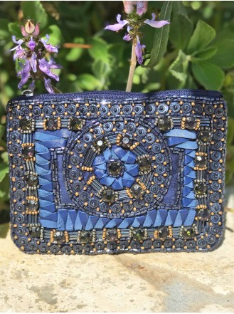 Beaded Purse (Blue)